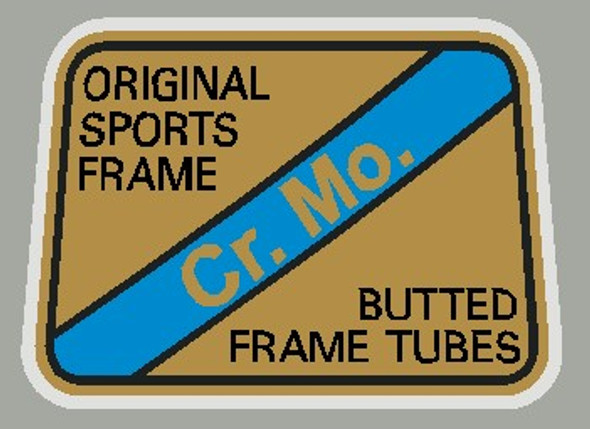 Maruishi Cr. Mo. Butted Frame Tubes  Decal - 1 piece
