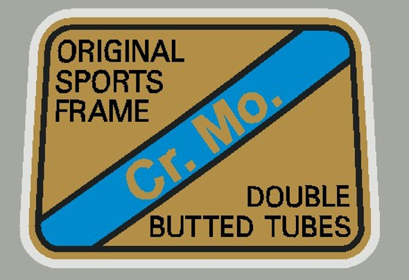 Maruishi Cr. Mo. Double Butted Tubes  Decal - 1 piece