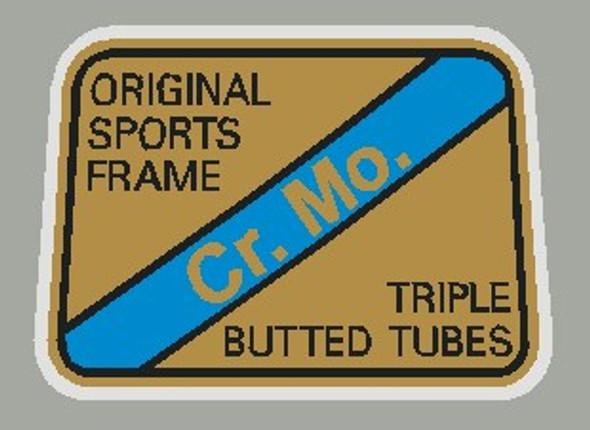 Maruishi Cr. Mo. Triple Butted Tubes  Decal - 1 piece