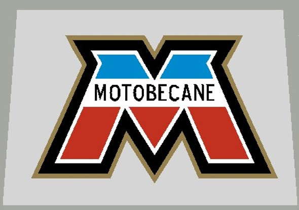 Motobecane Head Badge / Seat Tube Decal with French Colors and Gold 631 outline - 1 piece