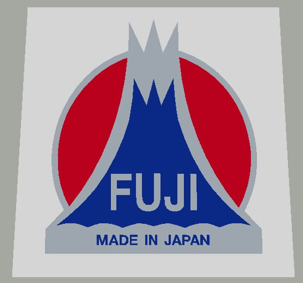 Fuji Head Badge Decal With Silver background- 1 Piece