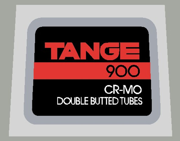 Tange 900 CR-MO Double Butted Tubes Decal on Chrome - 1 Piece