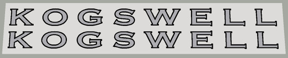 Kogswell Down Tube Decals - 1 Pair - Choose colors