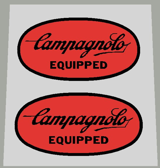 Campagnolo Equipped Badge Decals - 1 Pair - Choose colors