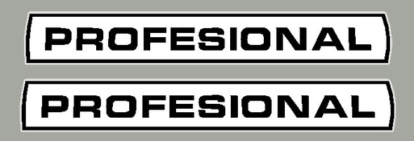 Windsor Profesional Down Tube Decals  with Curved box- 1 Pair -  Reflective Vinyl