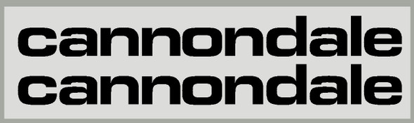 Cannondale Medium Format Down Tube Decals - 1 Pair - Choose Color