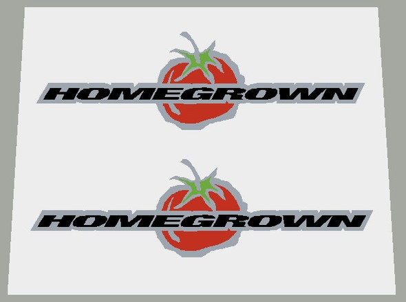 Schwinn Homegrown Top Tube Decals on Brushed Silver - 1 Pair - Choose Color
