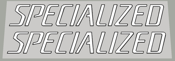 Specialized 1990's Large Top Tube Decals With Outline - 1 Pair - Choice of Colors