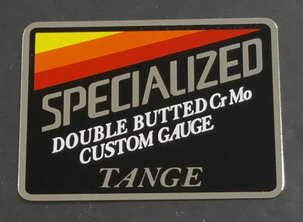 Specialized Double Butted Custom Gauge CrMo Tange Tubing Decal on Chrome Vinyl