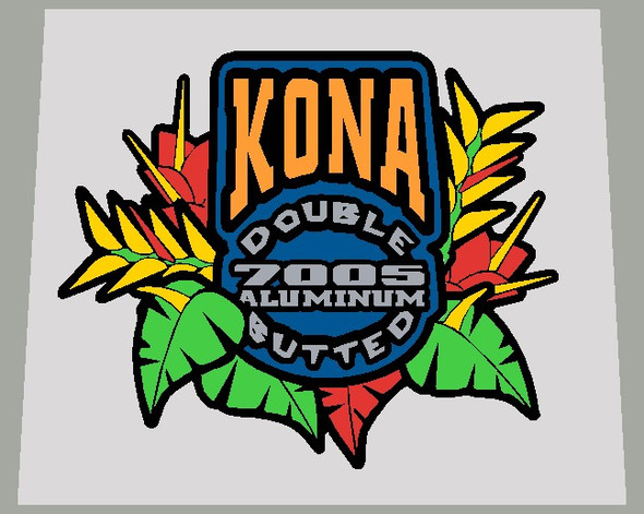 Kona 7005 Aluminum Double Butted  -  Choose Background Color
