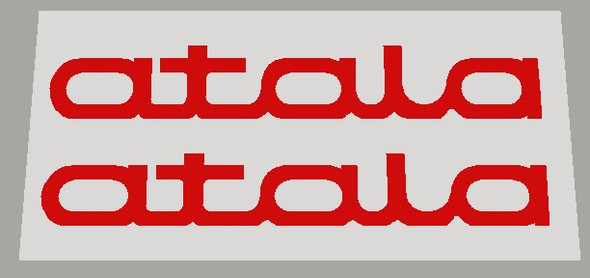 Atala Stay decals - 1 Pair - Choose Letter Color