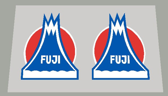 Fuji Volcano Wide Fork With Outline Decals - 1 Pair