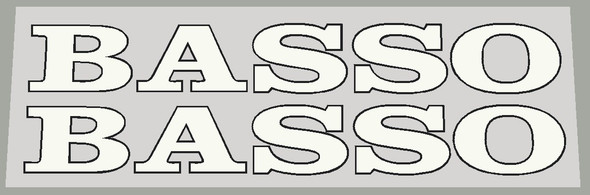Basso 1990's Down Tube Decals w/Outline  - Choose Color