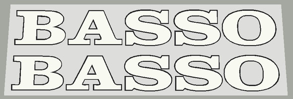 Basso 1990's Seat Tube Decals w/Outline - Choose Color