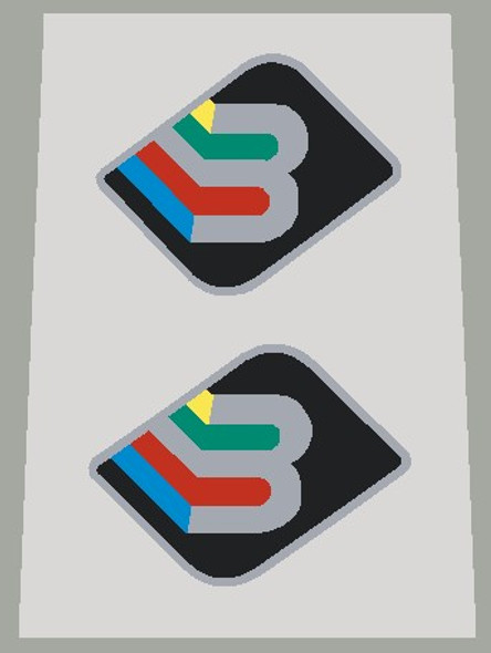 Basso Fork Decals With Metallic Silver Outline/Letter - 1 Pair