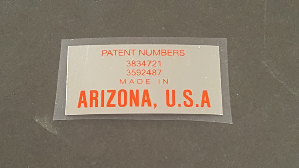 Sears Patent Identifier Decal on Chrome