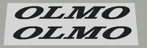 Olmo Bicycle Top Tube Short Decals - 1 Pair - Choose Color