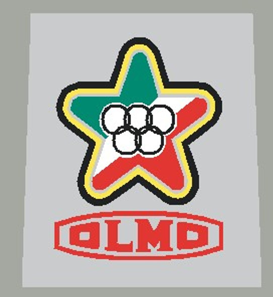 Olmo Striped Head Badge Decal
