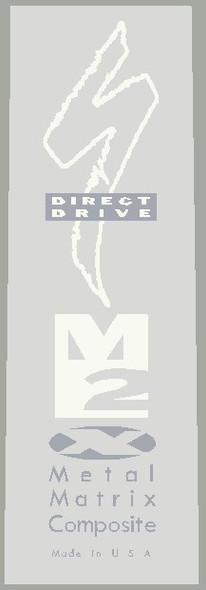 Specialized Direct Drive Metal Matrix  Composite Solid M2 Tubing Decal