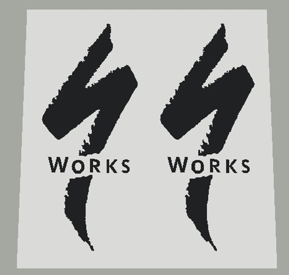 Specialized Logo/S Works Seat Tube Decals - 1 Pair - Choose Color