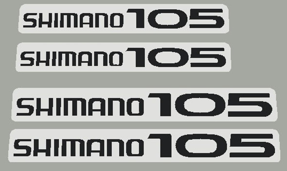 Shimano 105  Crank Arm decals - 2 Left and 2 Right - Choose Color