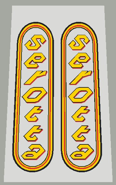 Serotta Oval Seat Tube Decals - 1 Pair - Choose Colors