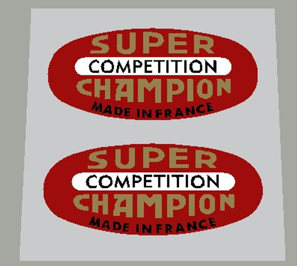 Super Champion Competition Red Rim Decals - Set of 2