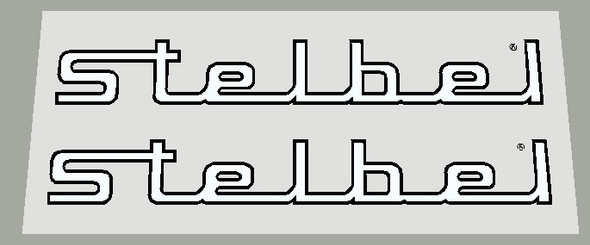 Stelbel Stay Decals- Choose Letter/outline color - 1 Pair