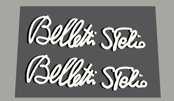 Stelbel Bellotti Stelio Signature with Shadow- Choose Letter/Shadow color - 1 Pair