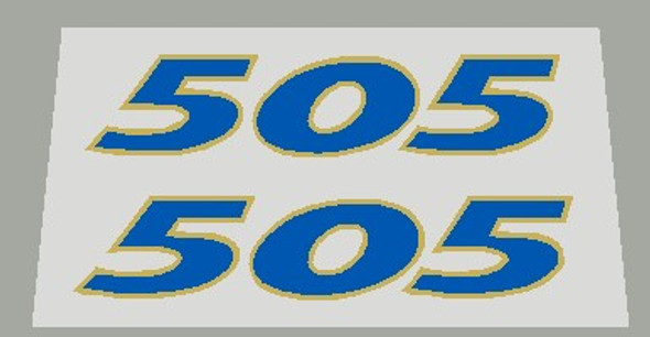 Bianchi 505 Seat Tube Decals  - 1 Pair - Choose Colors