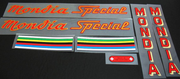 Mondia Special Bicycle Decal Set