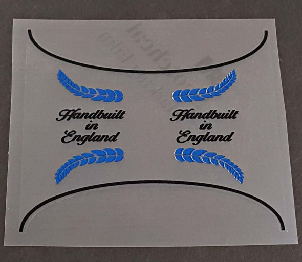 Triumph Made in England Seat Tube Panel Decal - Choose Accent Color