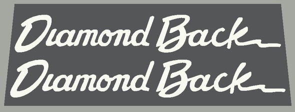 Diamond Back Down Tube Decals - 1 Pair - Choose Color