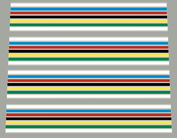 Pogliaghi Bicycle Chrome 7 Color Stripes Decals - 2 Pair