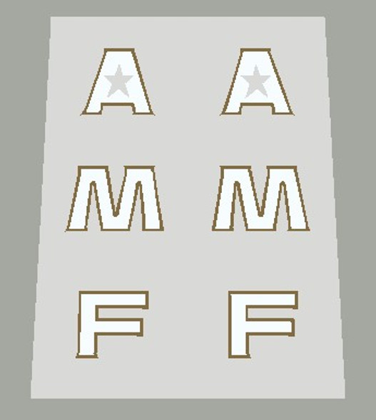 Hercules AMF Seat Tube Decals Letters only - 1 Pair