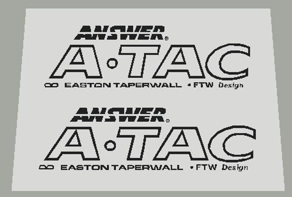 Yeti Answer A-Tac Outline Stem Decals - 1 Pair - Choose Color