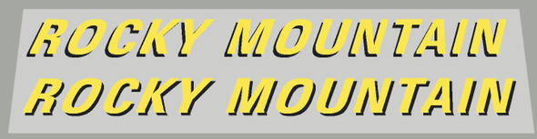 Rocky Mountain 1998 Left and Right Down Tube Decals - 1 Pair - Choice of Colors