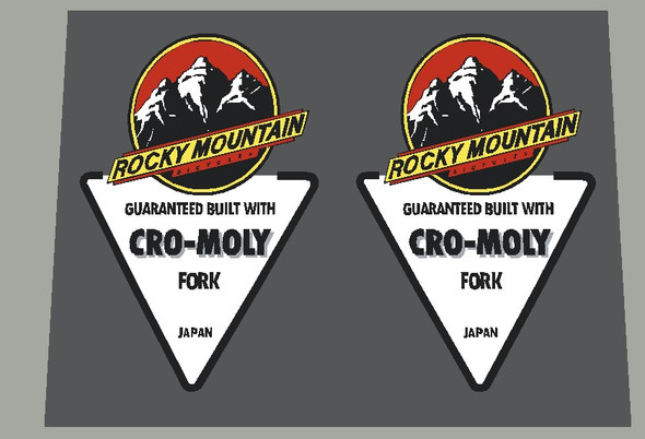 Rocky Mountain CRO-MOLY Fork Decals - 1 Pair