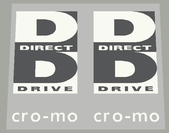 Specialized Direct Drive  Cro-mo 1990's Fork Reverse Color Decals - 1 Pair - Choose Color
