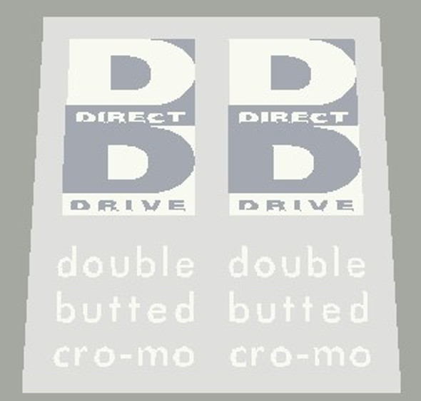 Copy of Specialized Direct Drive Double Butted Cro-mo 1990's Fork Reverse Color Decals - 1 Pair - Choose Color