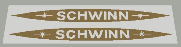 Schwinn 1979 Down Tube Decals  with Oval- 1 Pair - Choose Color