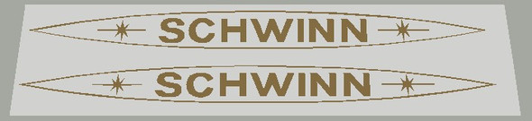 Schwinn 1979 Down Tube Decals  with Oval Outline - 1 Pair - Choose Color