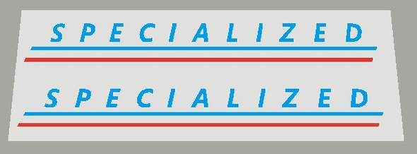 Specialized 1980's Top Tube decal with Lines- 1 Pair - Choice of Colors