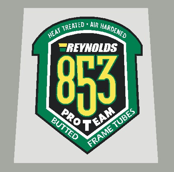Reynolds 853 ProTeam Frame Tubing Decal