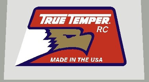 True Temper RC Made in USA Tubing Decal