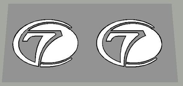 Seven Cycles 7 Fork Decal- 1 Pair- Choose Colors