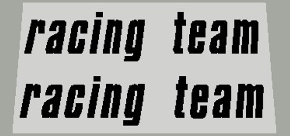 Bergamin Racing Team Chain Stay Decals - 1 Pair