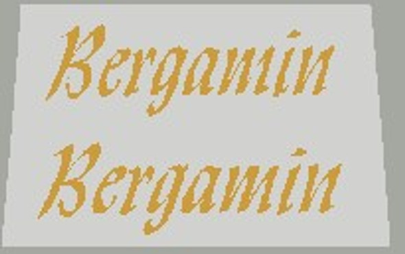 Bergamin Seat Stay Decals - 1 Pair