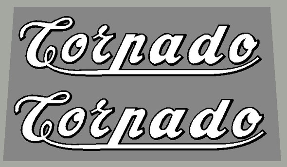 Torpado 1950's Down Tube Decals Script Style with underline - 1 Pair - Choose Colors