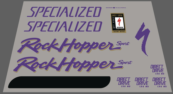 Specialized 1992 Rockhopper Sport Complete Decal Set - For Yellow Frame